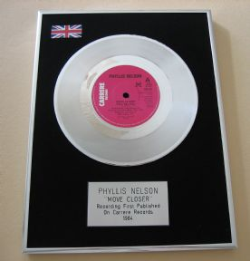 PHYLLIS NELSON - MOVE CLOSER Platinum single presentation DISC